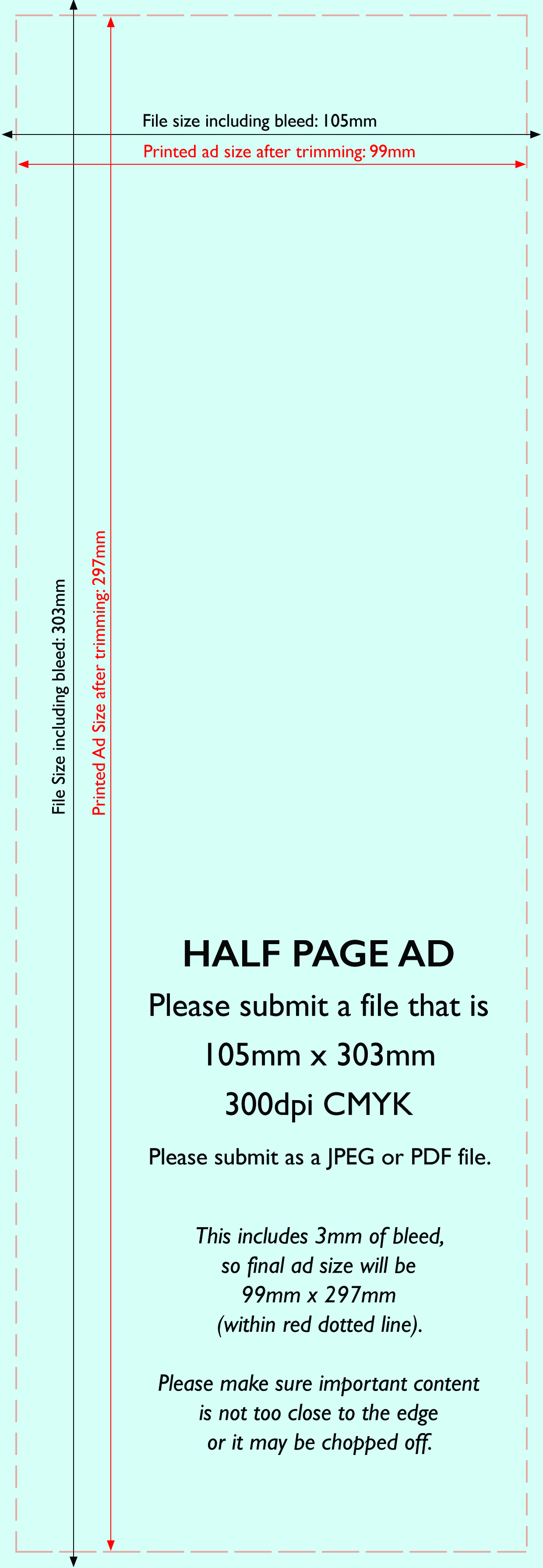Advertise in the esdc magazine half page ad template tall pronofoot35fo Choice Image