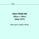 Half Page Ad Template (Wide)