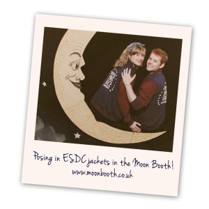 Polaroid - wearing ESDC jackets in the MoonBooth